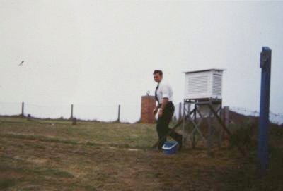 1982. Hartland Point meteorological equipment