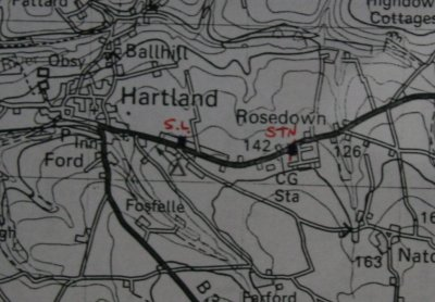 location of Hartland Weather Station